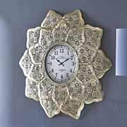 flower burst wall clock