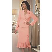 clarissa rose ruffle skirt suit
