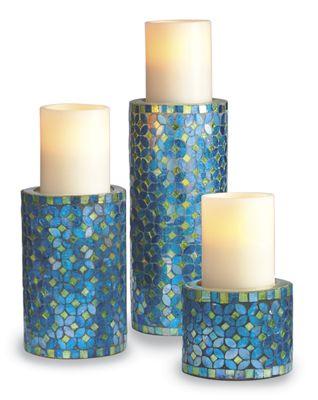 Set of 3 Mosaic Candleholders