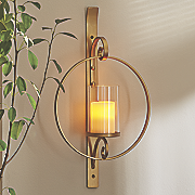 wall sconce with glass