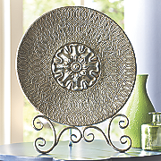 medallion plate with stand
