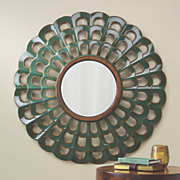 scalloped wall mirror