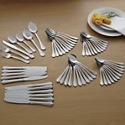 62 pc  dublin stainless steel flatware set by oneida