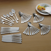 62 pc  dublin stainless steel flatware set by oneida