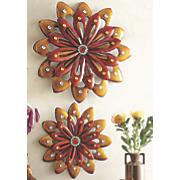 Set of 2 Sunburst Wall Flowers