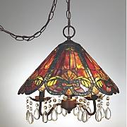 tiffany style swag lamp