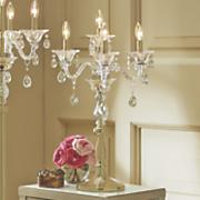 crystal tabletop candelabra