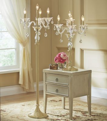 Crystal Floor Lamp Candelabra