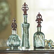Set of 3 Glass Bottles
