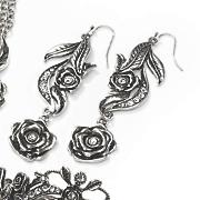 rose crystal earring