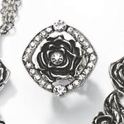 rose crystal stretch ring