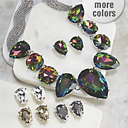 pear crystal necklace   earring set