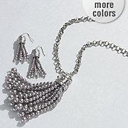 faux pearl tassel jewelry