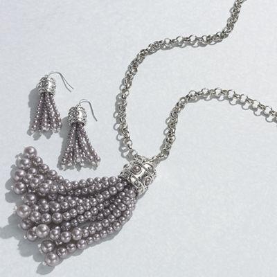 Faux Pearl/Tassel Jewelry