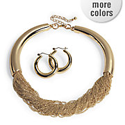 chain necklace and hoop set