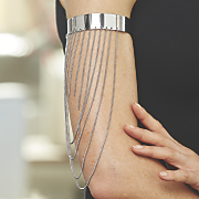 arm cuff with chains