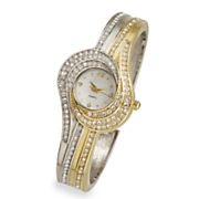 two tone swirl crystal watch 6