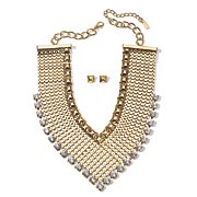 Crystal Woven Necklace & Earring Set