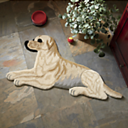 doggie cut out rug