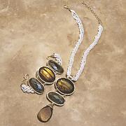 naturals faux stone necklace
