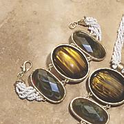 naturals faux stone bracelet