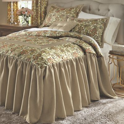 Amanda Skirted Comforter Set and Window Treatments