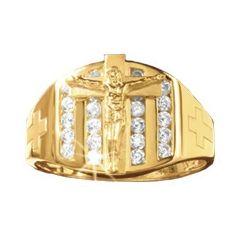 Men's Crucifix Ring