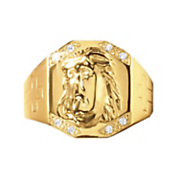 men s jesus face ring