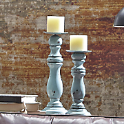 set of 2 rustic candlesticks