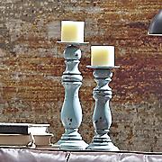 set of 2 rustic candlesticks