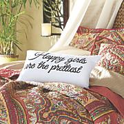 happy girl pillow