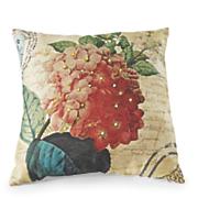 coral hydrangea pillow