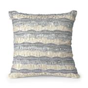 beaded ruffles pillow