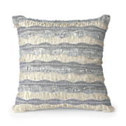 beaded ruffles pillow