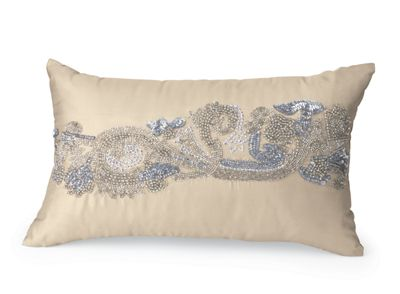 Beaded Scroll Pillow