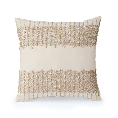 Faux Pearl Pillow