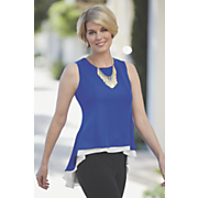 2 layer peplum top 166