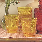 set of 4 embossed double old fashion glasses