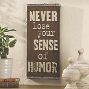 Sense of Humor Sign