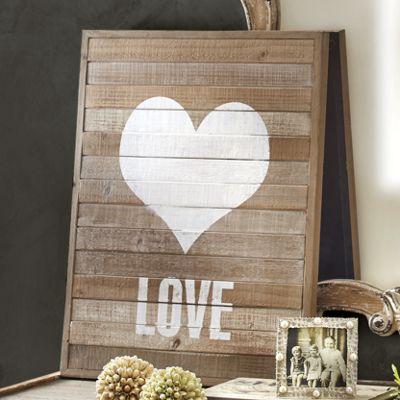 Painted Love Wood Panel Art