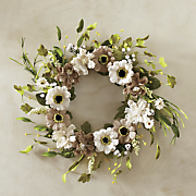 burlap daisy wreath