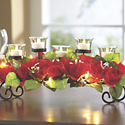 LED Roses Candle Centerpiece