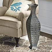 metal floor vase