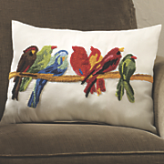decorative bird pillow