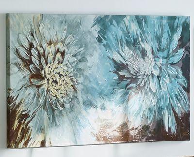 Large Floral Canvas