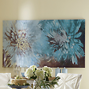 large floral canvas