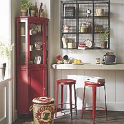 Red Corner Cabinet
