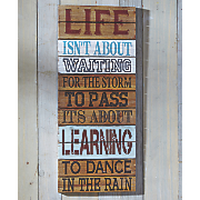 """Life Isn't About"" Wall Décor"