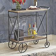 rolling wine cart