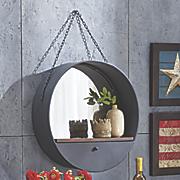 hanging round mirror